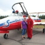 Barb with Captain Denis Bandet of the Canadian Forces Snowbirds.