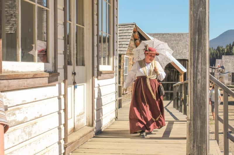 woman in period costume Barkerville