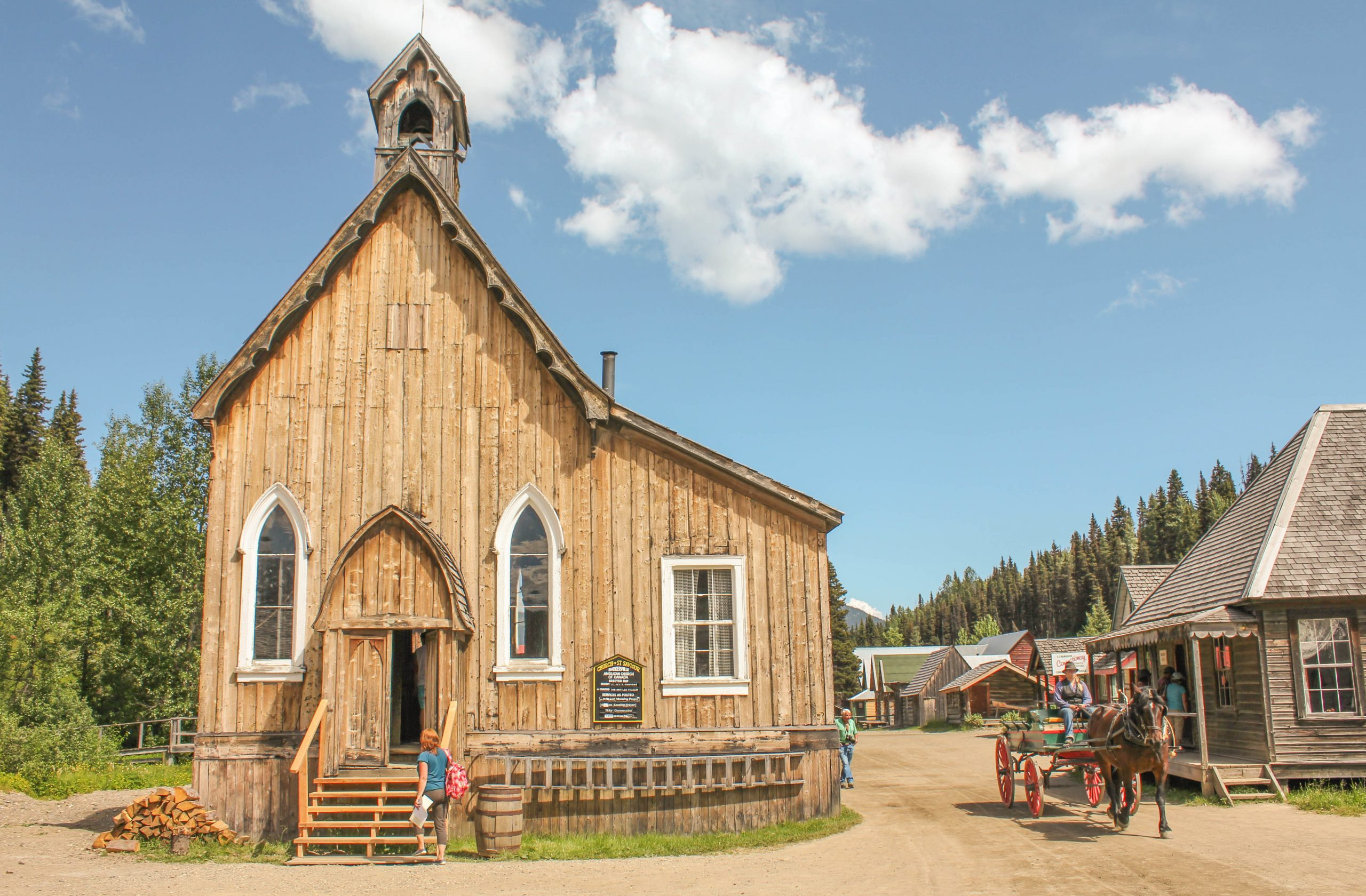 Historic Barkerville's St. Savior's Church, Barkerville, BC