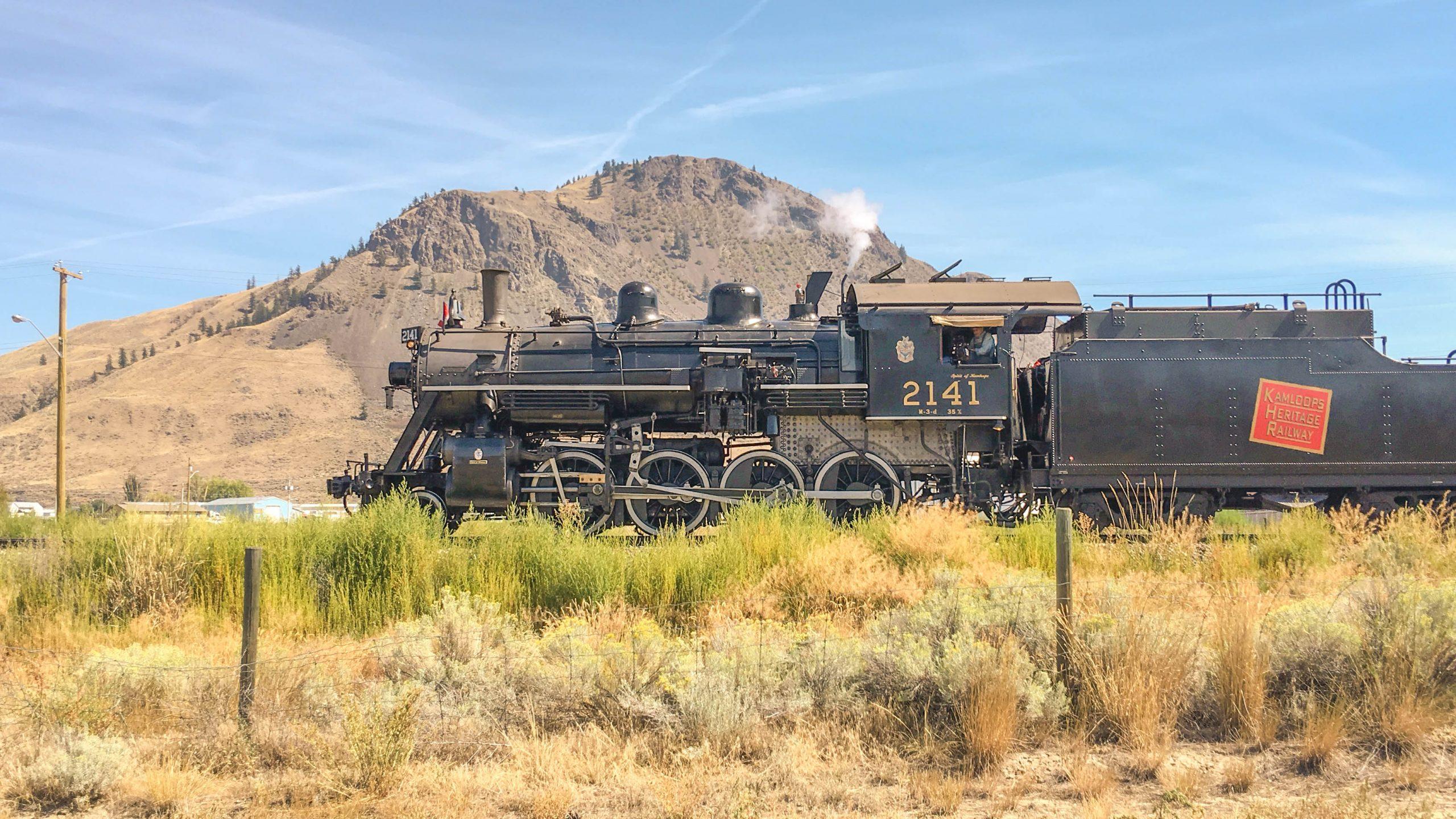 Kamloops Heritage Railway, 2141 steam locomotive, Kamloops, BC