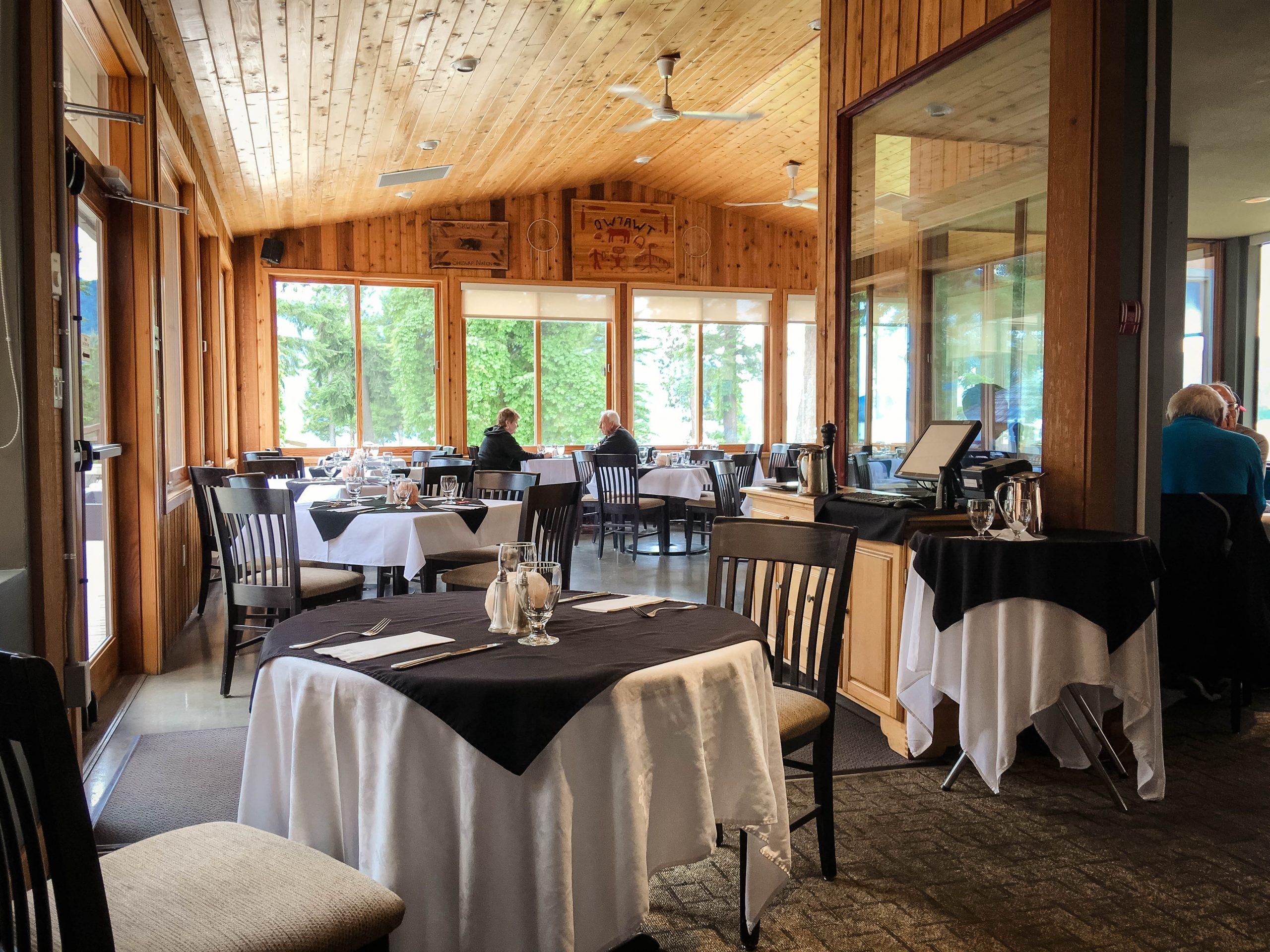 Quaaout Lodge, Shuswap, BC Jack Sam's Dining