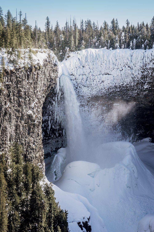 Helmcken Falls, Winter, Wells Gray Park