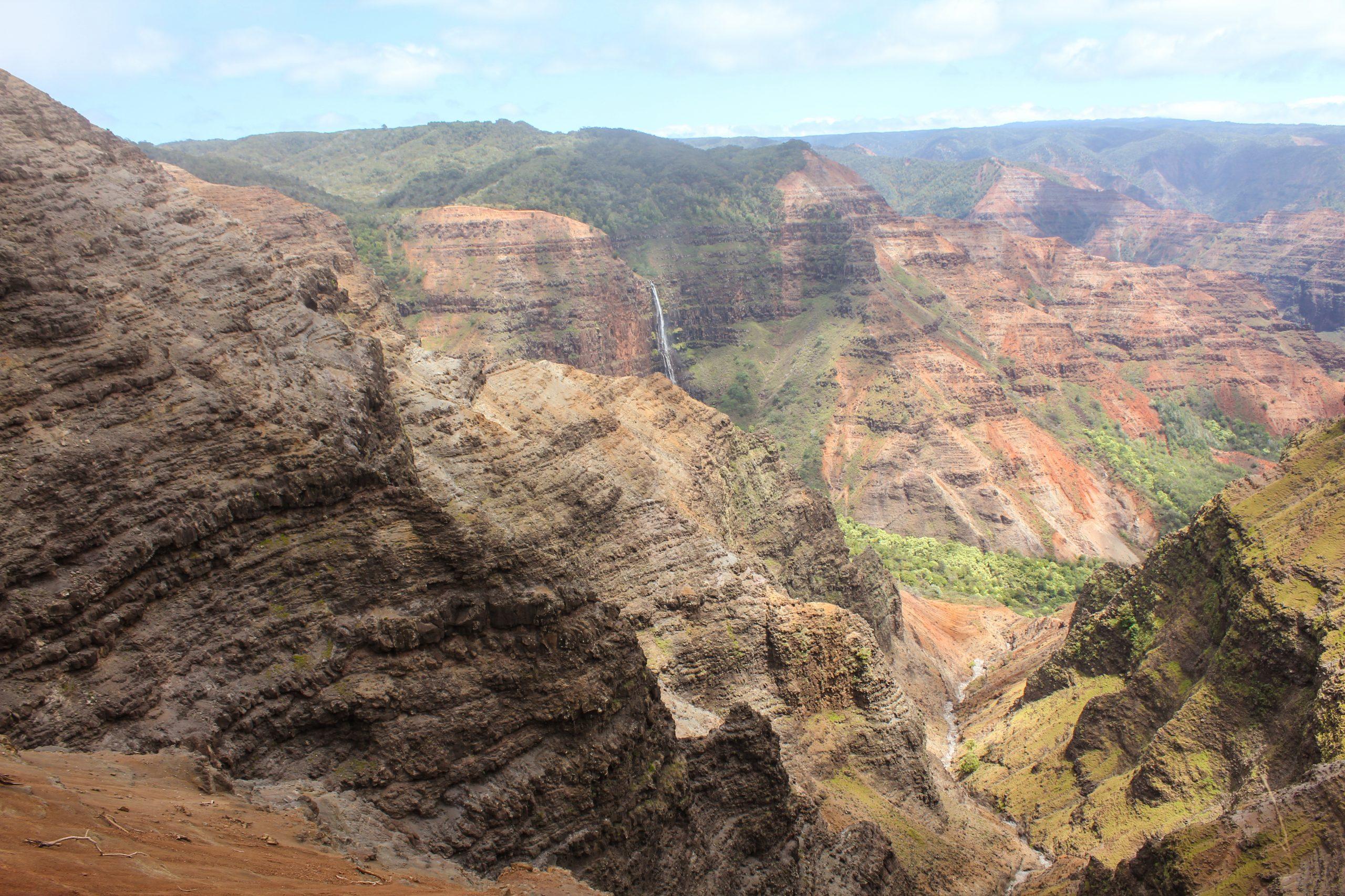 Waimea Canyon and Waipo'o Falls, Kauai, Hawaii