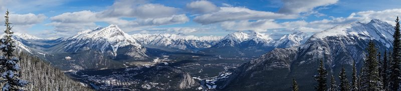 Banff Gondola Canadian Rockies Sulphur Mountain