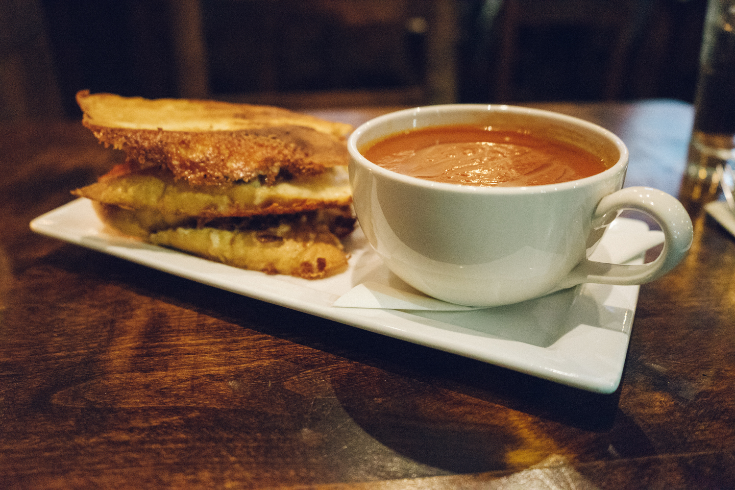 Burgoo - grilled cheese and tomato soup, The Burrard Hotel, Vancouver, BC