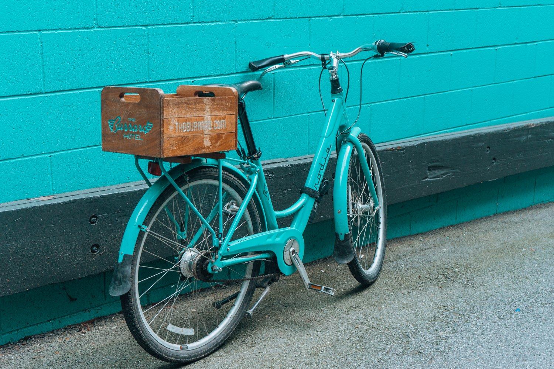 The Burrard Hotel- vintage bike, Vancouver, BC