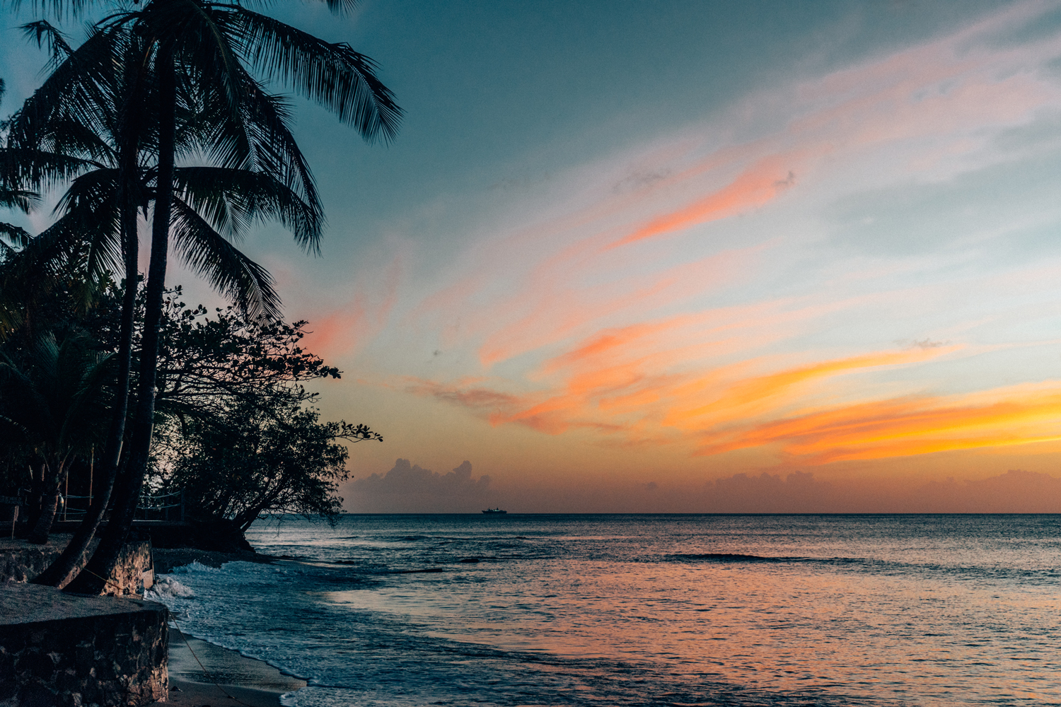 Sunset at East Winds Resort, St. Lucia
