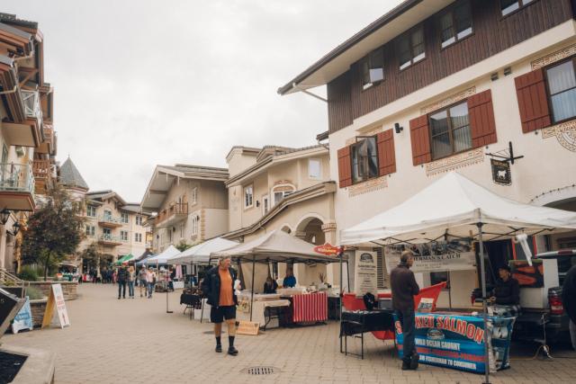 Sun Peaks Resort, BC Market Day