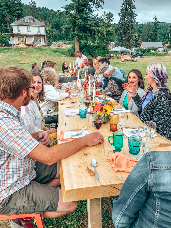 Farm to table dinner, Harpur Farms, Salmon Arm, BC