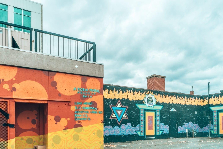 Kamloops, BC back alley murals