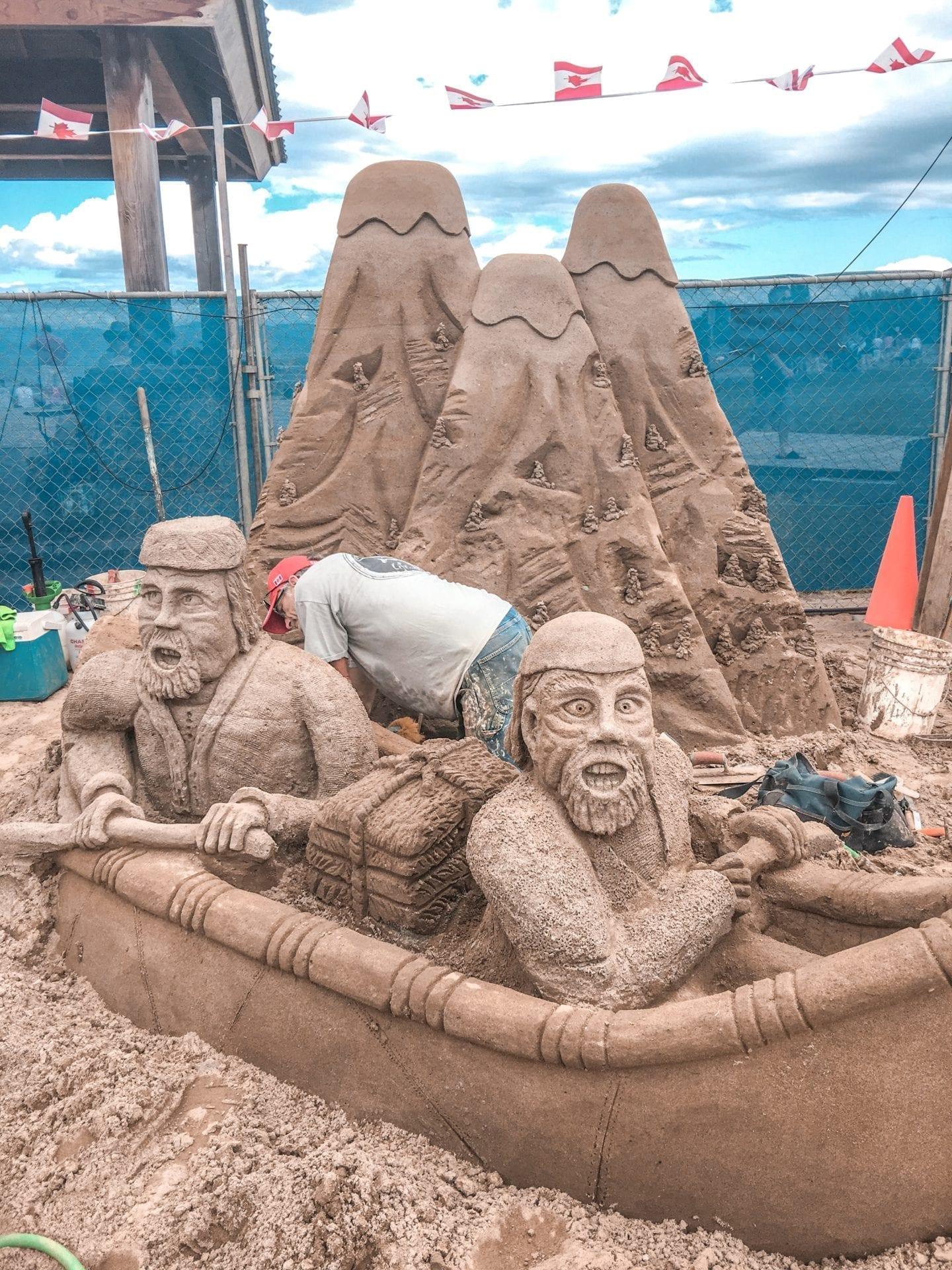 Parksville, BC Sand Sculpturres