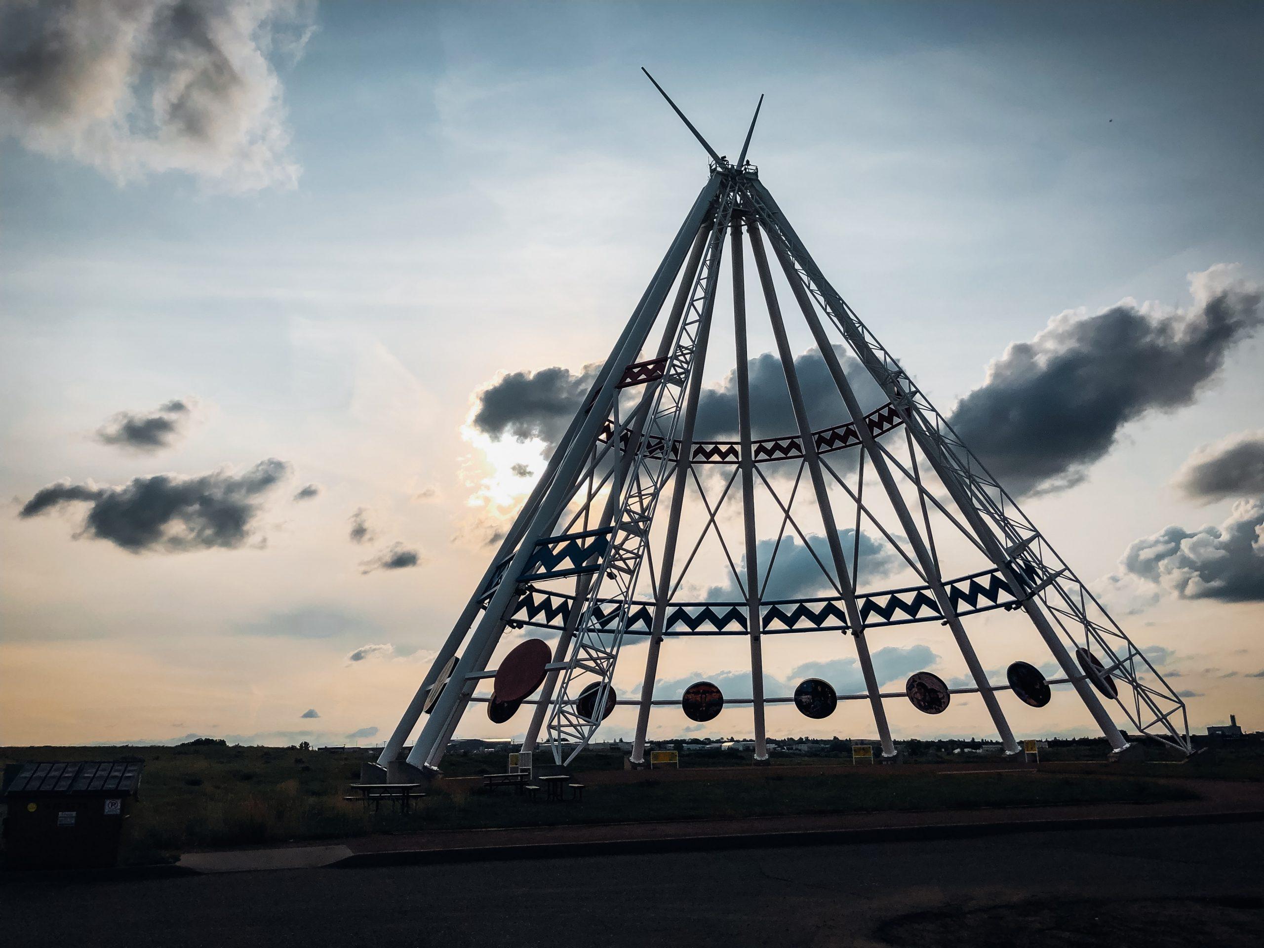 Saamis Teepee, Medicine Hat, Alberta. World's tallest teepee.
