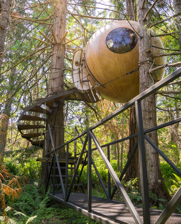 Free Spirit Spheres, Vancouver Island. BC