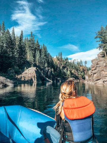 River rafting, Glacier National Park, Montana