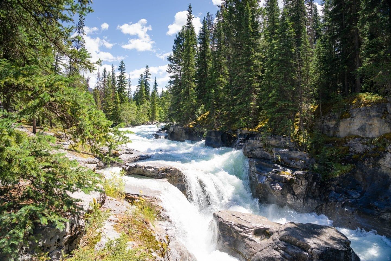 Maligne Canyon waterfall, Jasper National Park