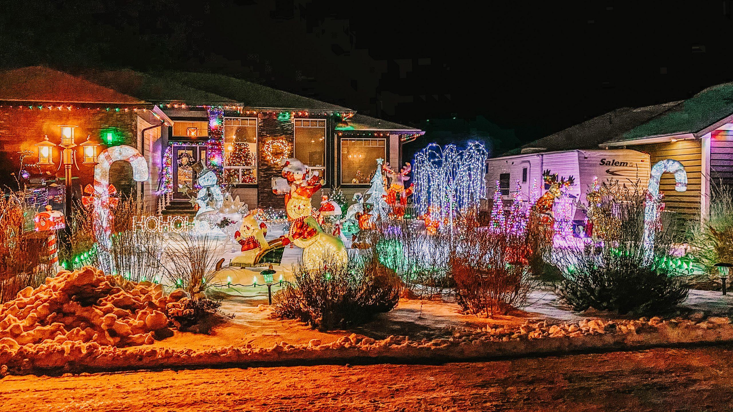 Festive Christmas Lights of Kamloops, BC