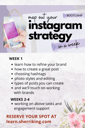 Map Out Your Instagram Strategy Bootcamp