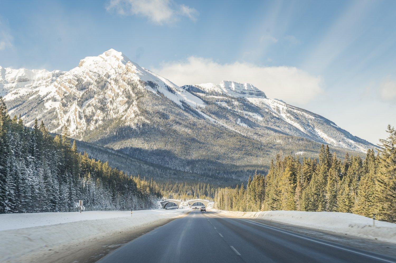 Jasper National Park, Canada, in the winter