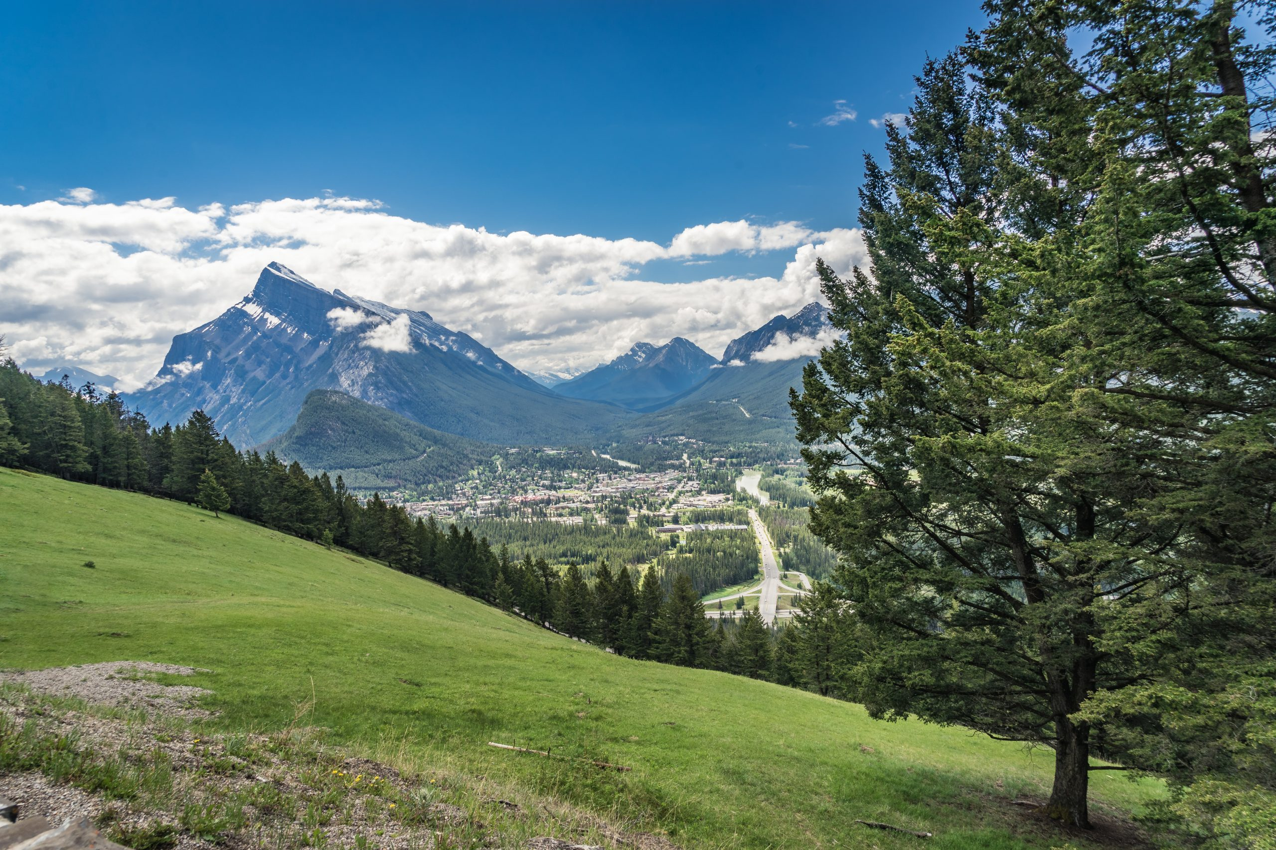 Town of Banff from Mount Norquay Lookout, Banff National Park, Alberta