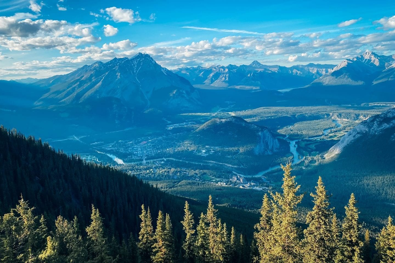View from the Banff Gondola, Sulphur Mountain, Sky Bistro, Banff National Park, Alberta