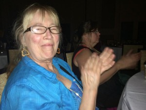 Mom at the luau